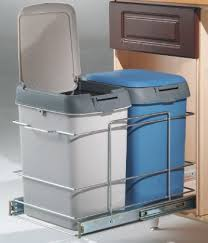 Kitchen Cabinet Recycle Bins by Double Bin Waste Pull Out W Soft Closing Slide 041 Fj162 C