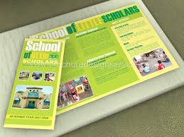 tri fold school brochure template school brochure designs templates sles inspiration