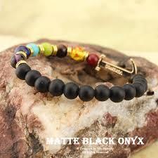 black beaded charm bracelet images 2017 new black onyx nature stone yoga energy beaded charm bracelet jpeg