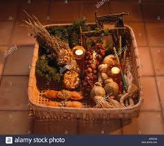 basket of dried herbs and spices with homemade christmas