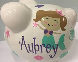 Personalized Silver Piggy Bank Piggy Bank Etsy