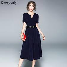robe bureau d été de v cou bleu marine longue bureau robe robes verano 2018 robe
