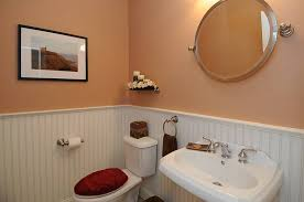 Wainscot Kit Cottage Powder Room With Powder Room U0026 Wainscoting In Brookfield