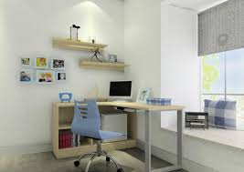 interior design boy room desk view 3d house