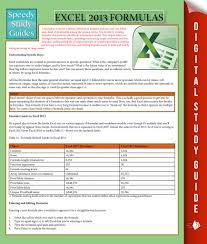 excel 2013 formulas by speedy publishing read online