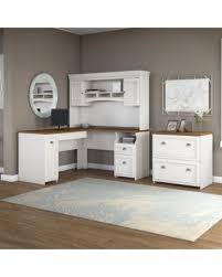 White L Shaped Desk With Hutch Deal Alert Bush Furniture Fairview L Shaped Desk With Hutch And