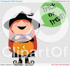 cute halloween png cartoon of a cute halloween witch shouting trick or treat and