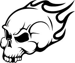 flaming skull wall art sticker clip art at clker com vector clip flaming skull wall art
