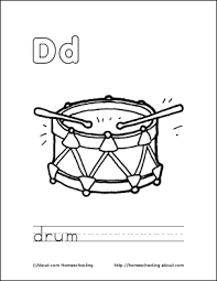letter d coloring book free printable pages