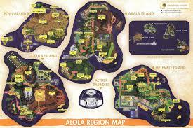 Sinnoh Map Alola Region Pokeshopper
