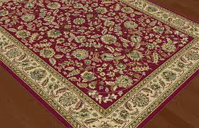 Rug Color Red Traditional Oriental Floral Vine Area Rug Multi Color Border