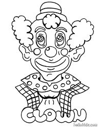 clown coloring pages hellokids com