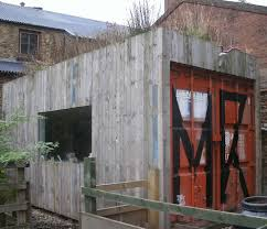 garden shed shipping containers reuse reduce and recycle