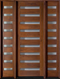 Modern Doors Entry Door In Stock Single With 2 Sidelites Solid Wood With