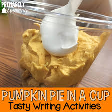 kindergarten thanksgiving lessons pumpkin pie in a cup tasty writing activities primarily speaking