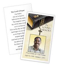 funeral card template select funeral program card design and layout