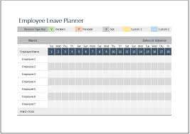 employee leave planner template for ms excel word u0026 excel templates