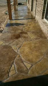Tiling A Concrete Patio by Stamped And Stained Concrete Patio In Flagstone Pinterest