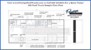 Free Sample Floor Plans Custom Food Truck Floor Plan Samples Prestige 18 Foot Trucks For