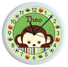 nursery wall clock wooden airplane clock personalized name baby
