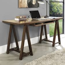 Wooden Home Office Desk Simpli Home Sawhorse Office Desk Hayneedle