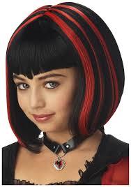 Vampire Costumes For Kids Vampire Wig Black And Red Girls Vampire Costume Wigs