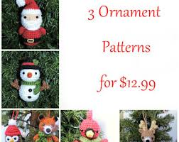 Amigurumi Christmas Ornaments - crochet christmas ornament pattern woodland animal crochet