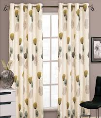 Curtains Ring Top Stylish Floral Ring Top Eyelet Lined Curtains Faux Silk Teal Lime