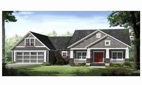 style ranch homes 1 story house plans with front porch new single story craftsman