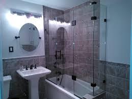 Oak Bathroom Light Fixtures by Beautiful Tiny Bathroom Design With Florals Vinyl Shower Curtains