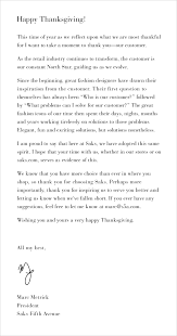 happy thanksgiving from our president marc metrick luxury buys