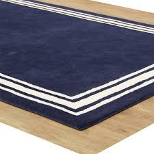 Modern Style Rugs Navy Bordered Modern Style Woolen Area Rug Adc Rugs