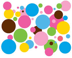 baby koo colorful dots wall decals by wall arts