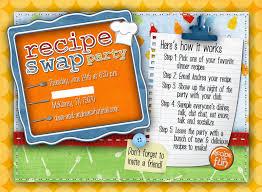 slightly askew designs recipe swap party invite