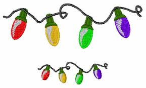 embroidered christmas christmas lights embroidery design annthegran