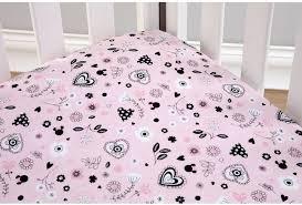 Crib Bedding Set Minnie Mouse by Disney Minnie Mouse Hello Gorgeous 3 Piece Crib Bedding Set