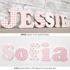 name letter pattern pink white girl s painted wall name letters