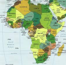 Africa On Map by Kalahari Desert Serengeti Plain Lake Victoria Mt Kili