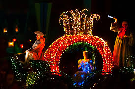 disney electric light parade cinderella disney s electrical parade with cinderella castle in