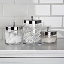 Glass Bathroom Accessories Sets Ksp Nicole Bath Canisters Set Of 3 Kitchen Stuff Plus