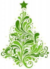 christmas tree design featuring abstract swirls im going to