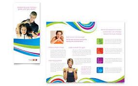 personal trainer tri fold brochure word template u0026 publisher