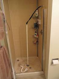 unclog a shower drain with pvc and an inner