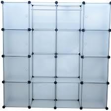 Honey Can Do 60 Double Door Storage Closet by Homcom Plastic Portable Extra Wide Modular Storage Closet