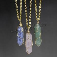 pendant wire necklace images Necklace women natural jewelry necklace pendulum gold chain brass jpg
