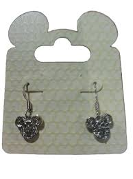 mickey mouse earrings dangle earrings mickey mouse icon filigree silver