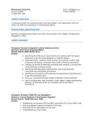 Electronic Resume Example by Resume Electronics Engineer 3years Experience