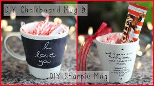 Gift Mugs With Candy Diy Chalkboard Mug U0026 Diy Sharpie Mug Holiday Gift