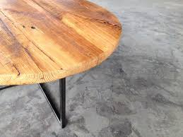 Pedestal Coffee Table Round Hand Crafted Reclaimed Wood Table Round Reclaimed Wood And Steel