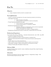 sample resume for assembly line worker